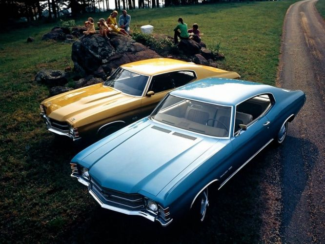 1971 Chevrolet Chevelle Malibu 350 Hardtop Coupe Chevelle S-S 454 Hardtop Coupe muscle wallpaper