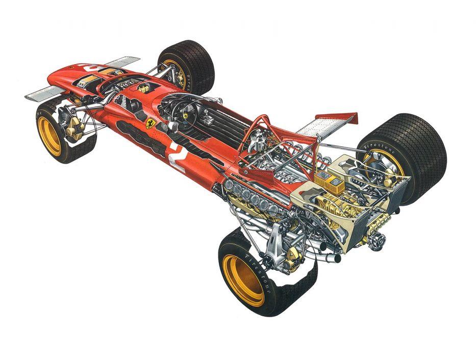 1971 Ferrari 312B formula f-1 race racing classic      g wallpaper