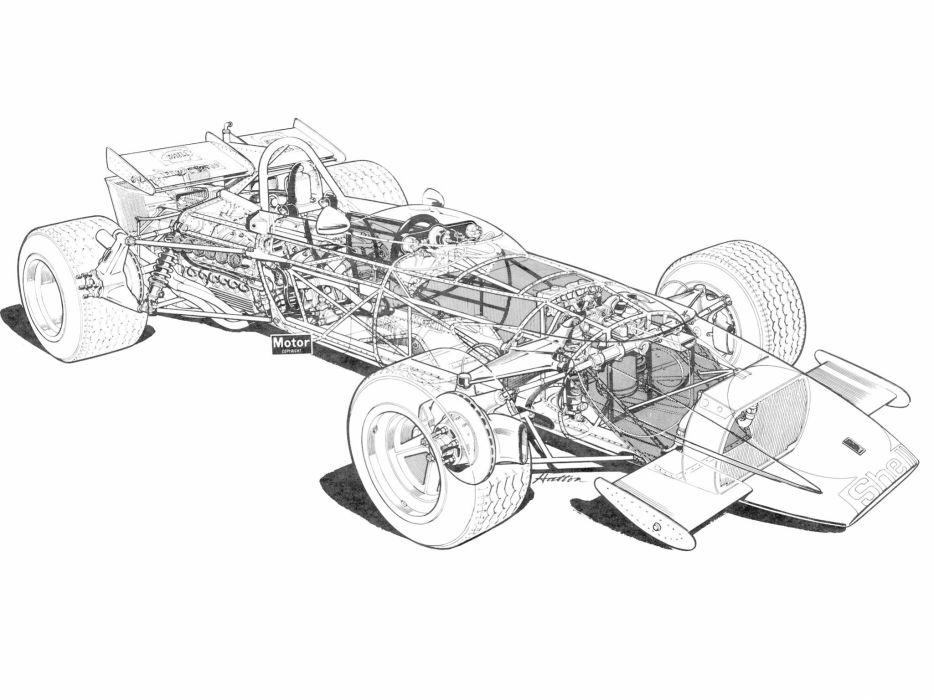 1971 Ferrari 312B formula f-1 race racing classic interior engine    g wallpaper