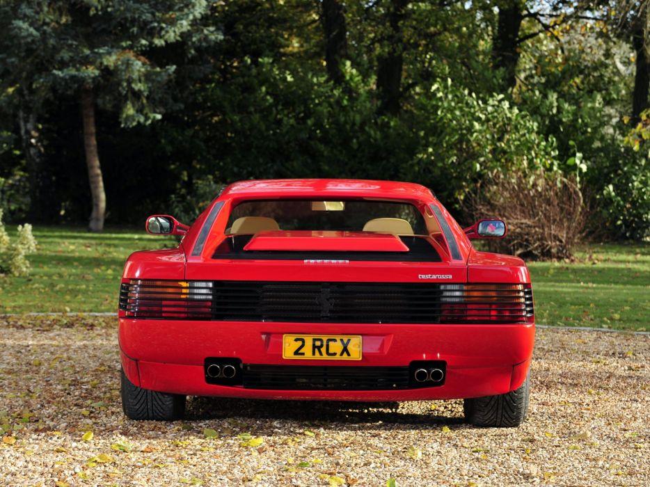 1986-92 Ferrari Testarossa UK-spec supercar b wallpaper