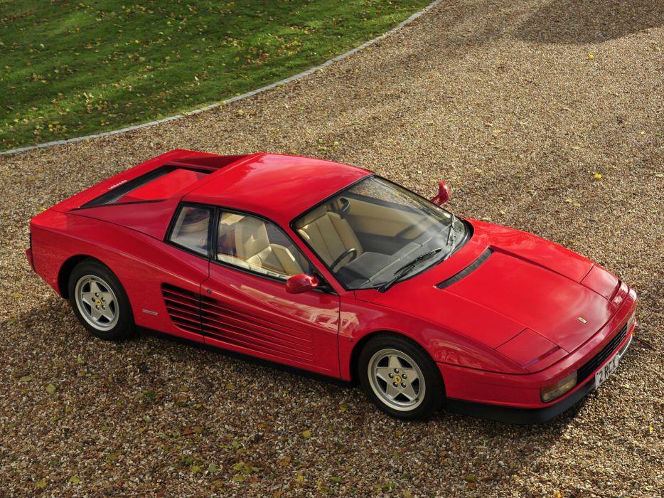 1986-92 Ferrari Testarossa UK-spec supercar  gf wallpaper