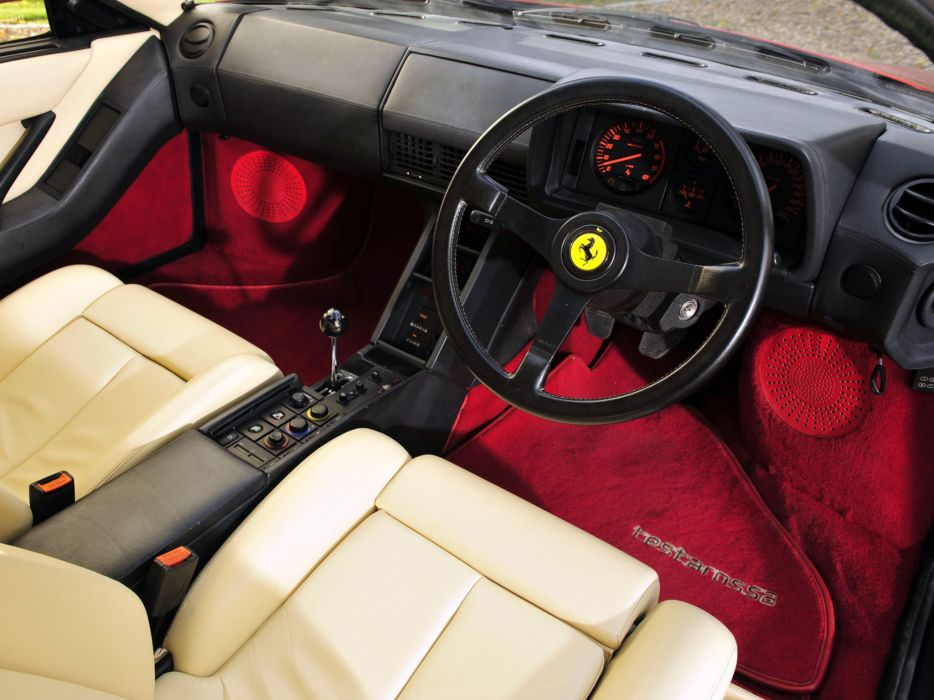 1986-92 Ferrari Testarossa UK-spec supercar interior    g wallpaper