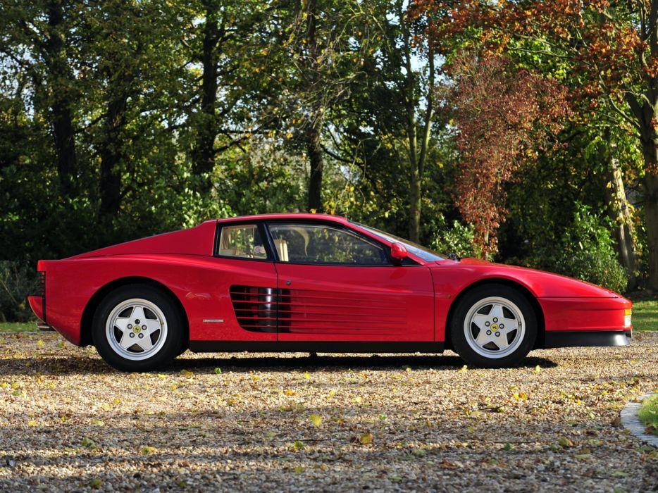1986-92 Ferrari Testarossa UK-spec supercar     g wallpaper