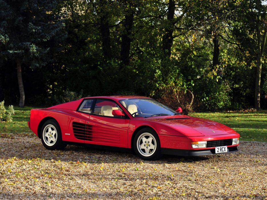 1986-92 Ferrari Testarossa UK-spec supercar  r wallpaper