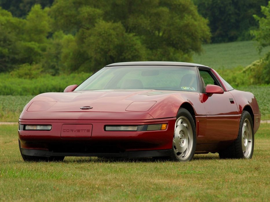 1991-96 Chevrolet Corvette Coupe C-4 muscle supercar   j wallpaper