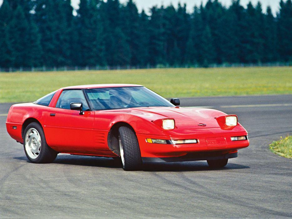 1991-96 Chevrolet Corvette Coupe C-4 muscle supercar   jr wallpaper