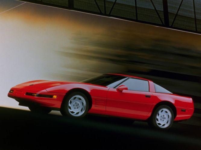 1991-96 Chevrolet Corvette Coupe C-4 muscle supercar js wallpaper