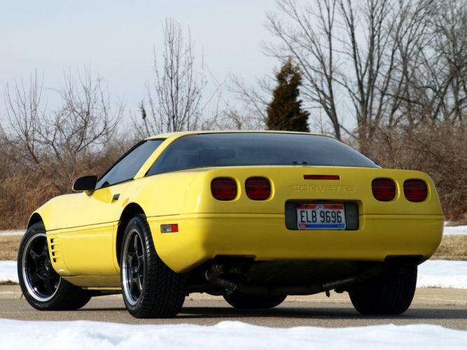 1991-96 Chevrolet Corvette Coupe C-4 muscle supercar m wallpaper