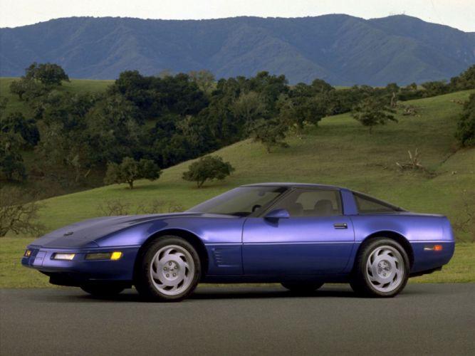 1991-96 Chevrolet Corvette Coupe C-4 muscle supercar j wallpaper
