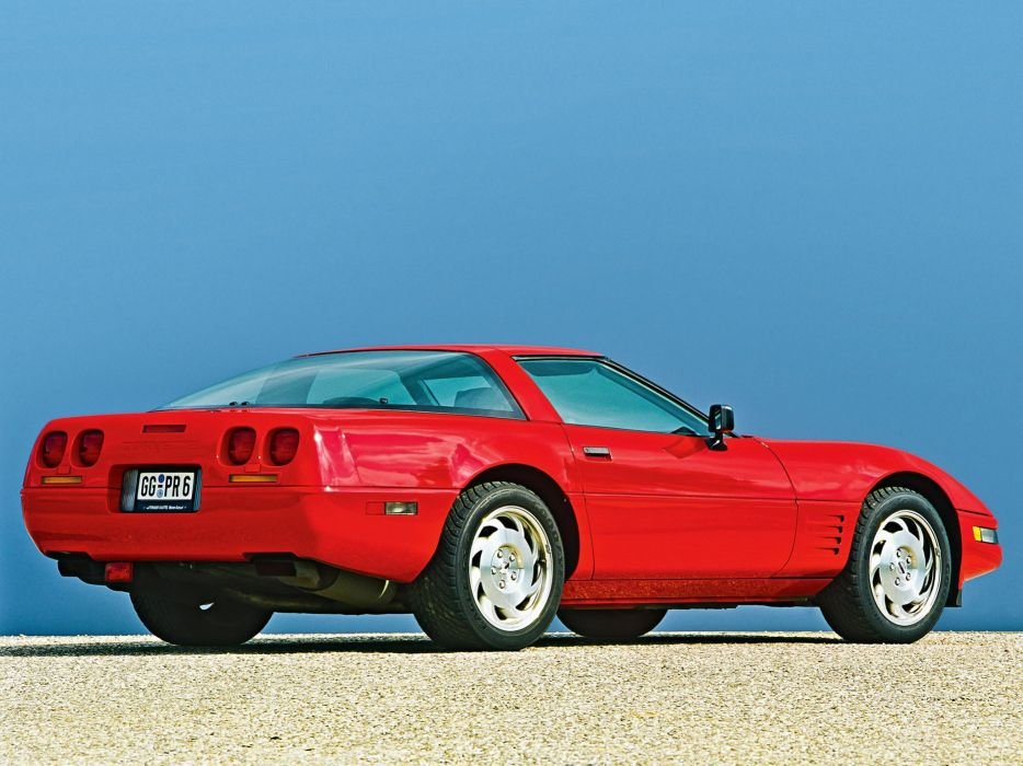 1991-96 Chevrolet Corvette Coupe C-4 muscle supercar  jk wallpaper