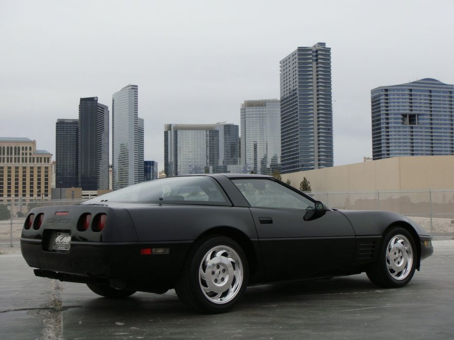 1991-96 Chevrolet Corvette Coupe C-4 muscle supercar  e wallpaper