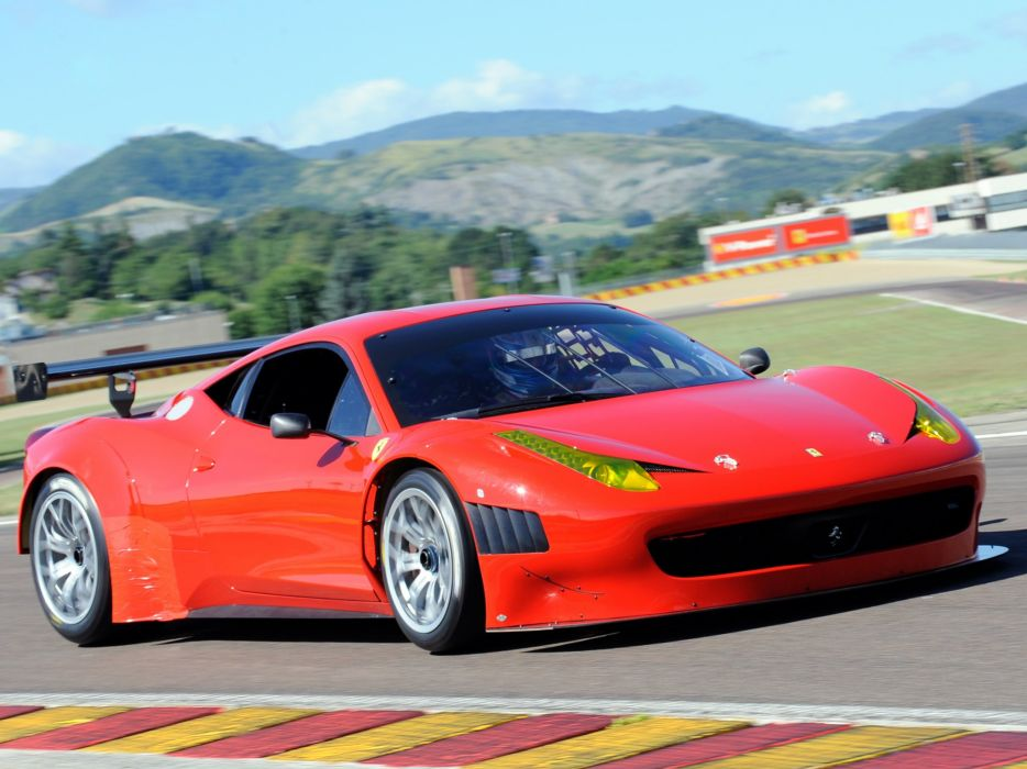 2011 Ferrari 458 Italia GT3 race racing supercar     g wallpaper