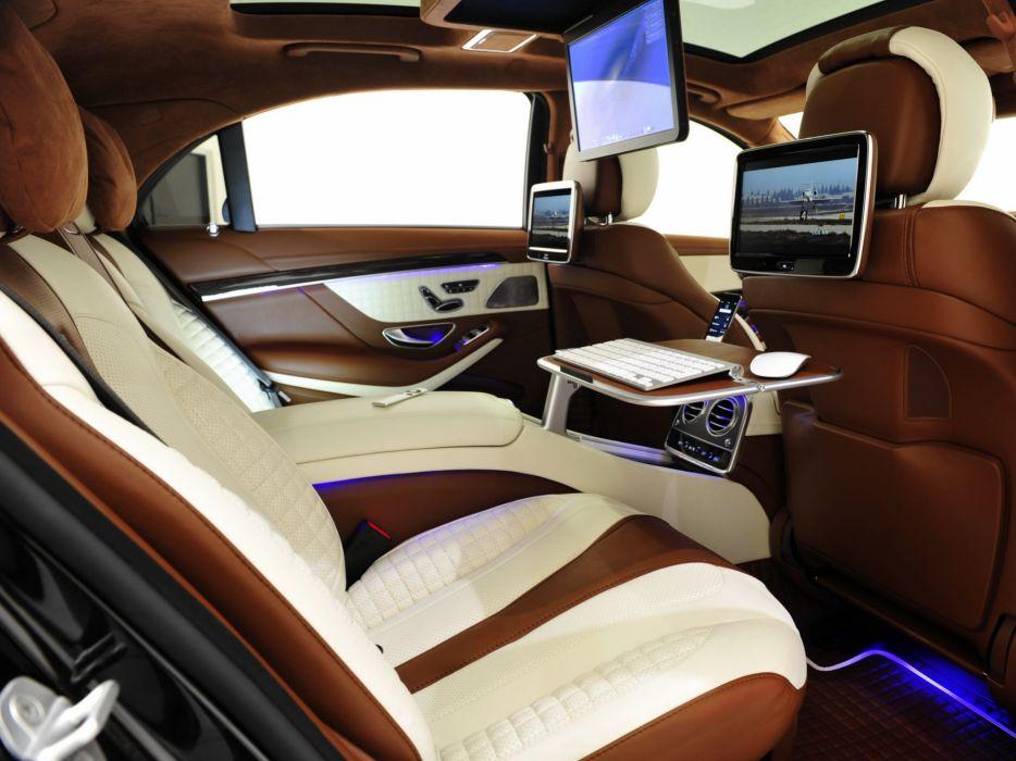 2014 Brabus Mercedes Benz S63 AMG W222 tuning luxury interior  f wallpaper