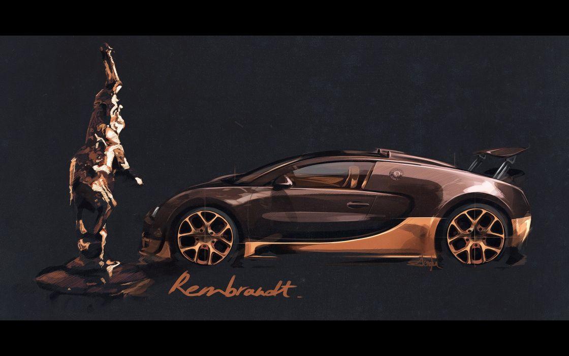 2014 Bugatti Veyron Grand Sport Roadster Vitesse Rembrandt supercar poster wallpaper