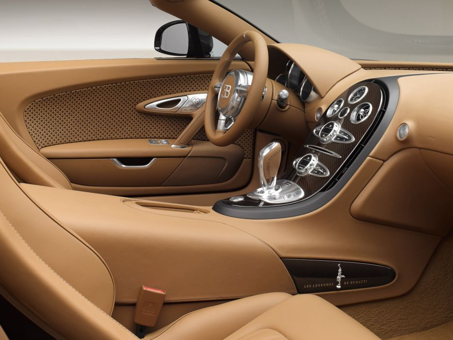 2014 Bugatti Veyron Grand Sport Roadster Vitesse Rembrandt supercar interior  s wallpaper