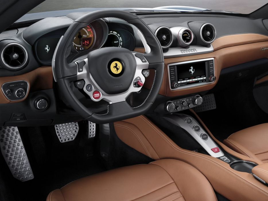 2014 Ferrari California T supercar california-t interior      f wallpaper