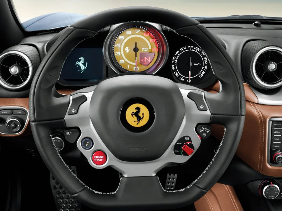 2014 Ferrari California T supercar california-t interior    g wallpaper
