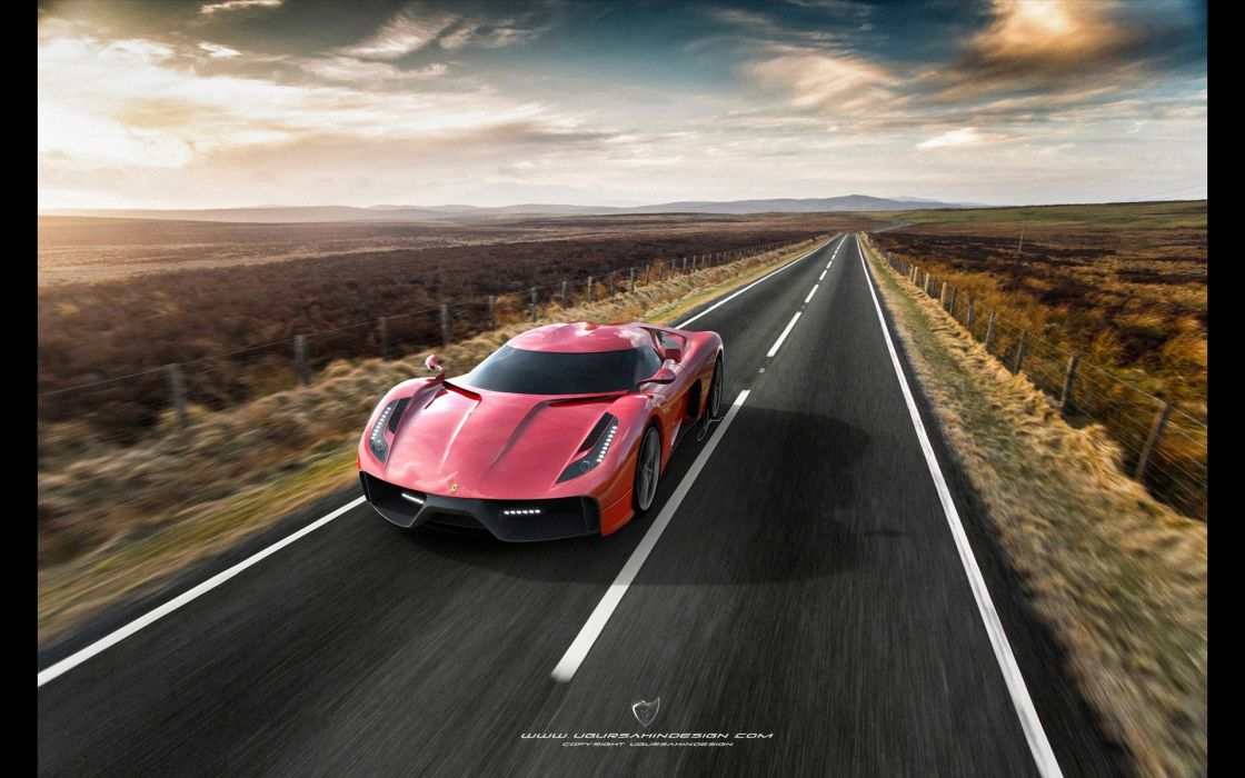2014 Ferrari F-6 Concept supercar     h wallpaper
