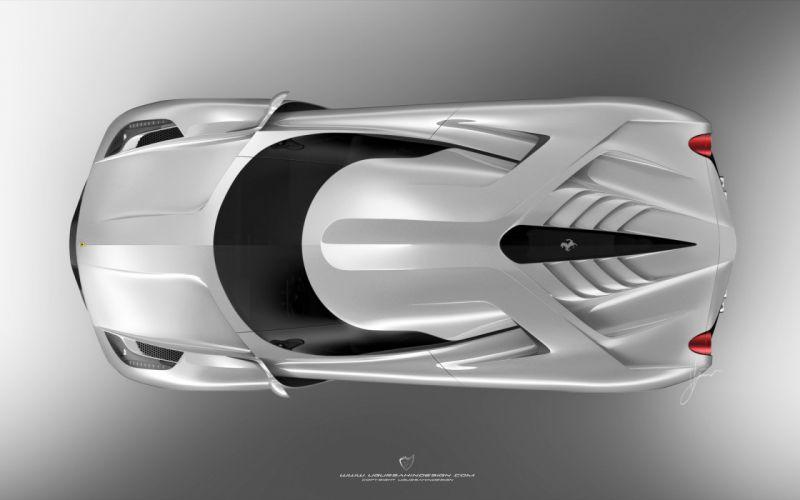 2014 Ferrari F-6 Concept supercar he wallpaper