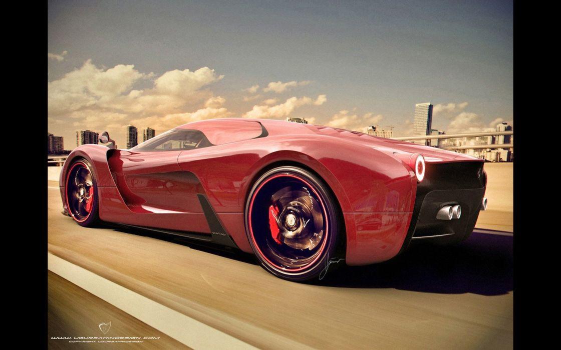 2014 Ferrari F-6 Concept supercar    h wallpaper