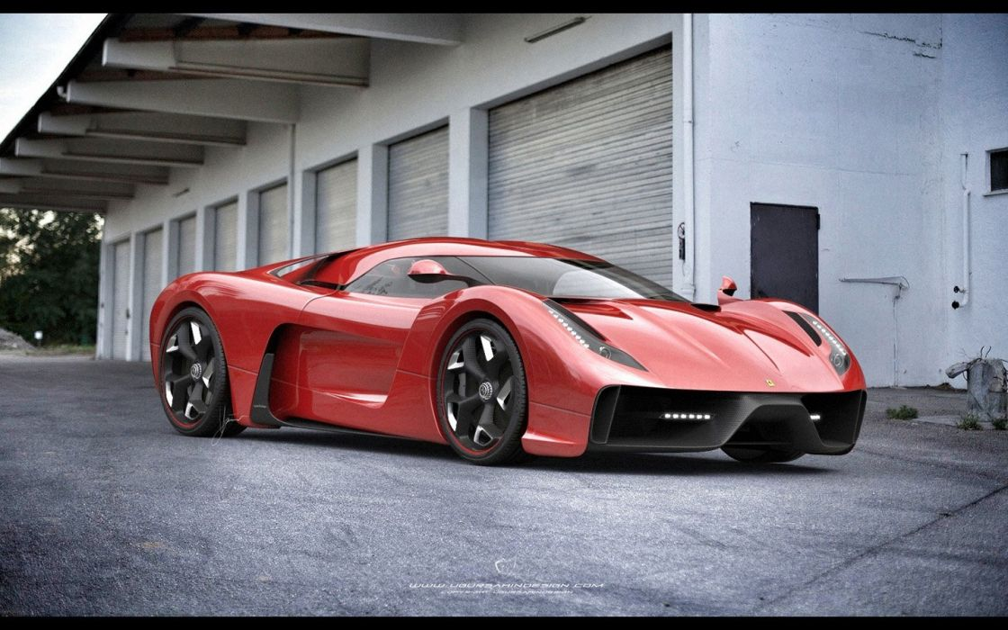 2014 Ferrari F-6 Concept supercar   g wallpaper