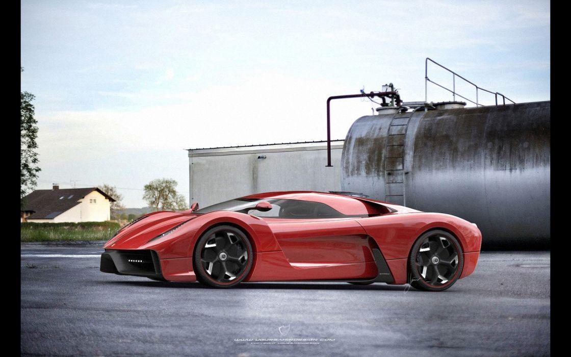 2014 Ferrari F-6 Concept supercar   gs wallpaper