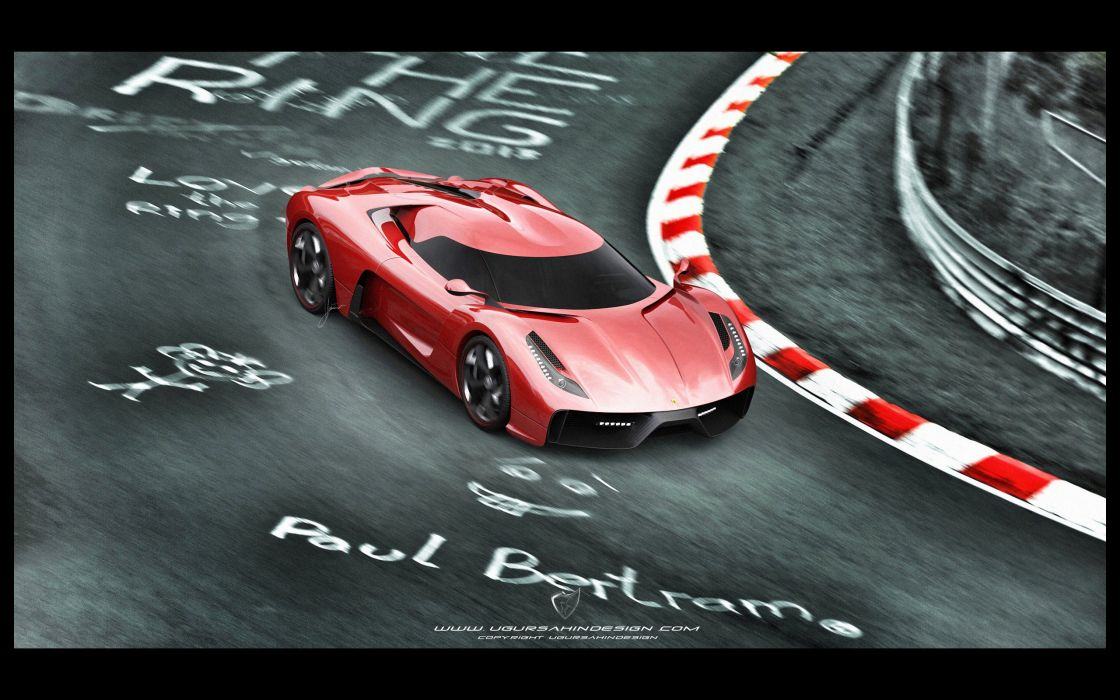 2014 Ferrari F-6 Concept supercar   hs wallpaper