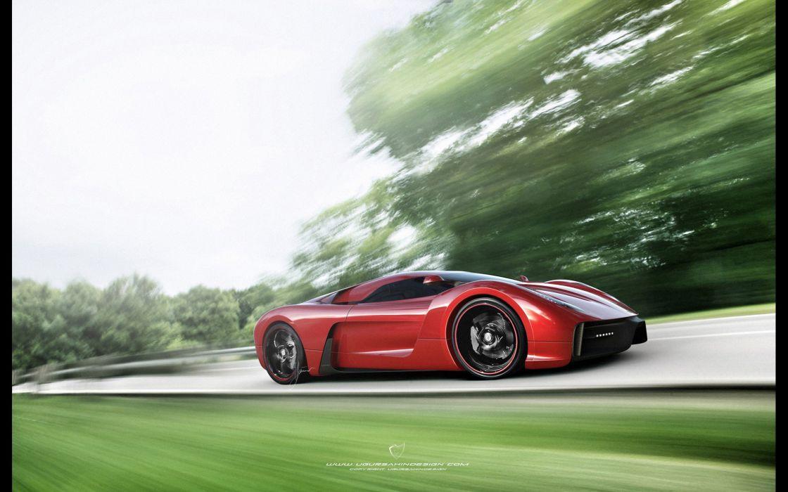2014 Ferrari F-6 Concept supercar   e wallpaper