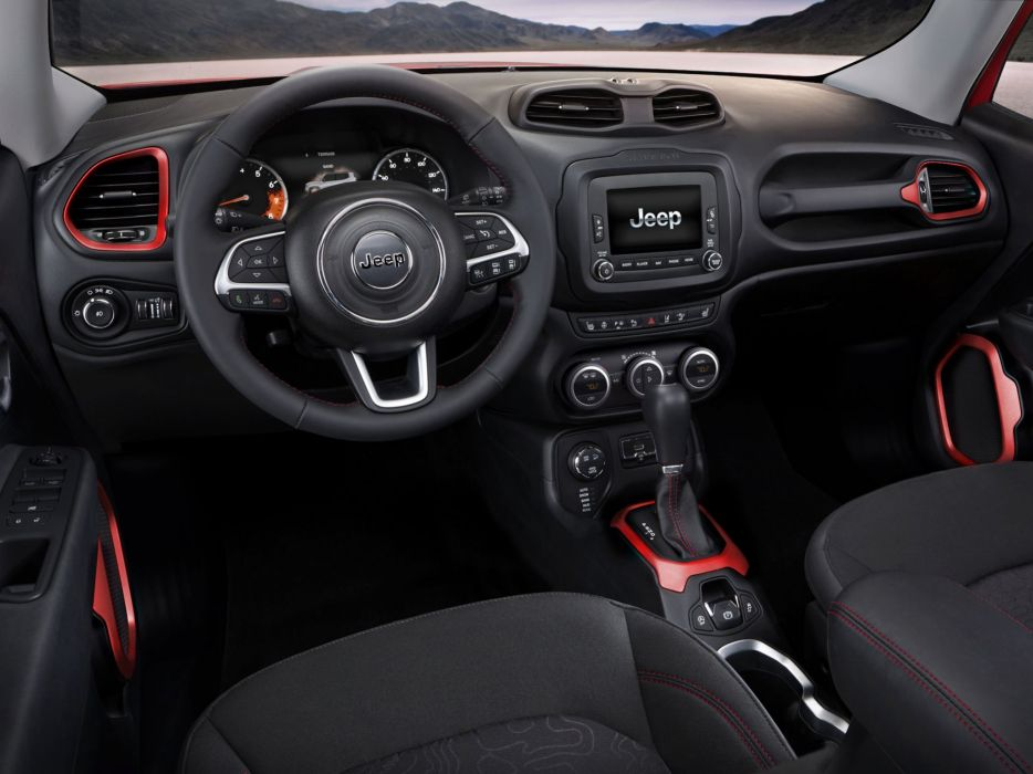 2014 Jeep Renegade Latitude 4x4 suv interior      f wallpaper