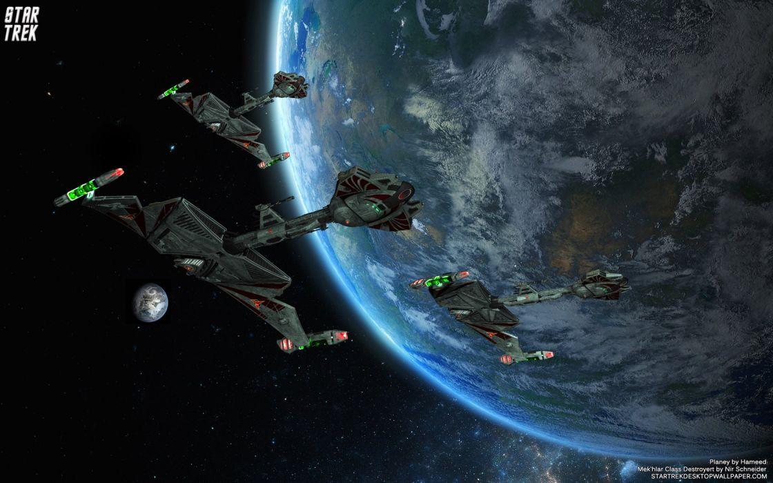 Star Trek Mek hlar Class Destroyer freecomputerdesktopwallpaper 1680 wallpaper