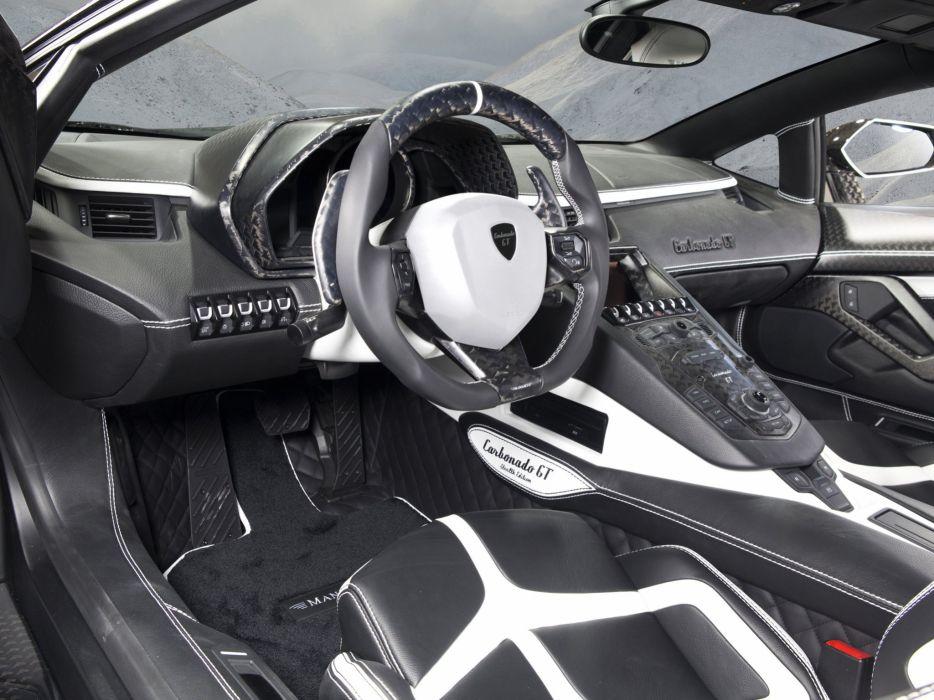 2014 Mansory Lamborghini Aventador LP700-4 Carbonado G-T LB834 supercar tuning interior  v wallpaper