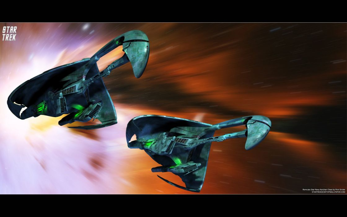 Star Trek Romulan Star Navy Kerchan Class2011 freecomputerdesktopwallpaper 1680 wallpaper