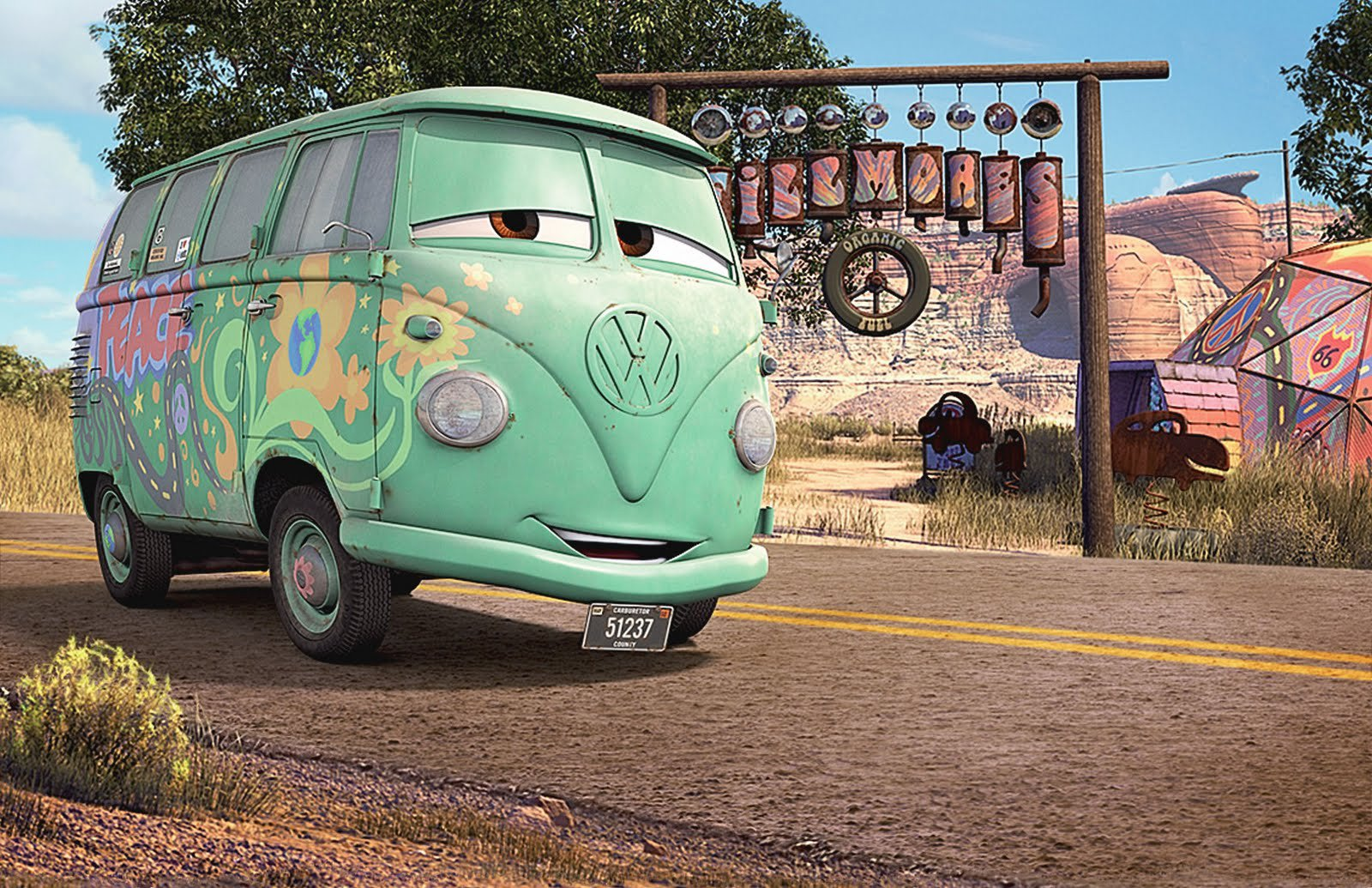 Kombi Type 2 Old Bus Volkswagen Cars Disney Pixar