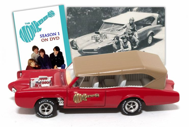 Pontiac GTO MonkeeMobile hot rod rods custom television series classic engine poster wallpaper