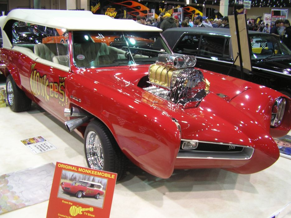 Pontiac GTO MonkeeMobile hot rod rods custom television series classic engine wallpaper