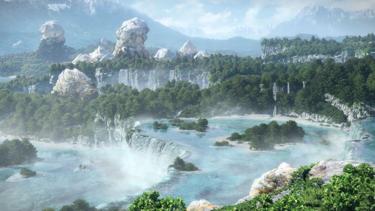 Final Fantasy landscapes wallpaper