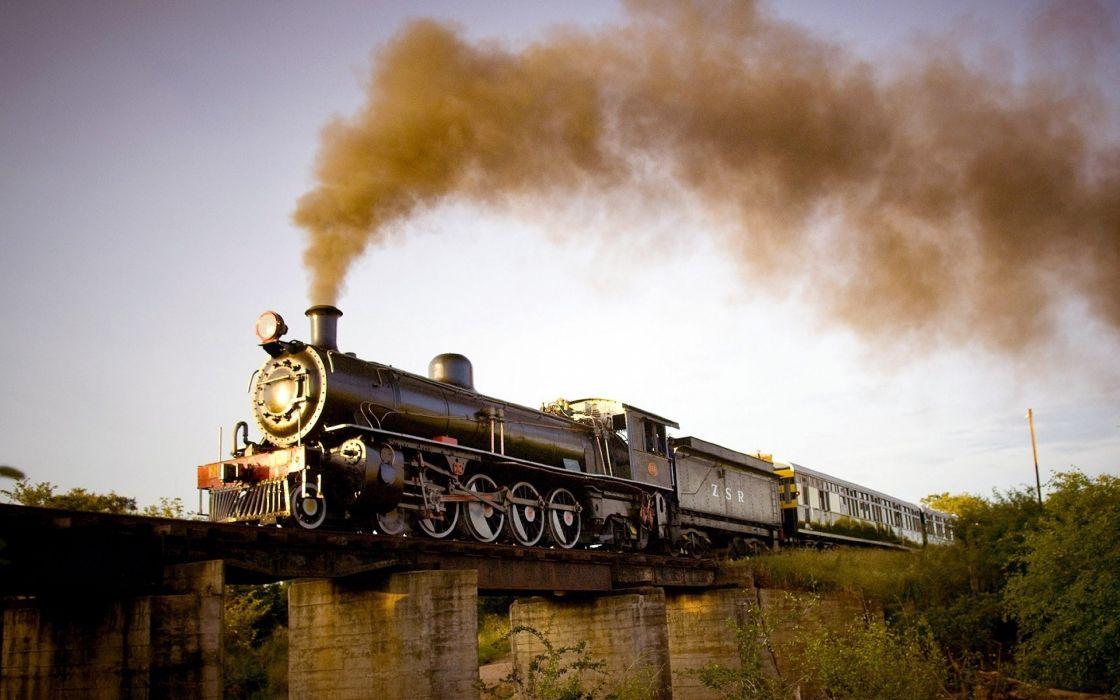 trains Steam train steam locomotives widescreen wallpaper