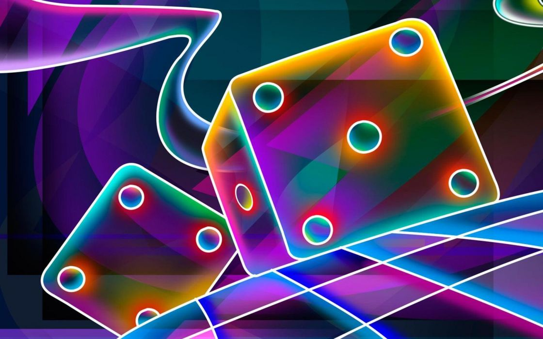 dice glowing wallpaper