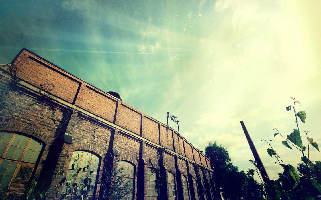 Sun cityscapes wallpaper