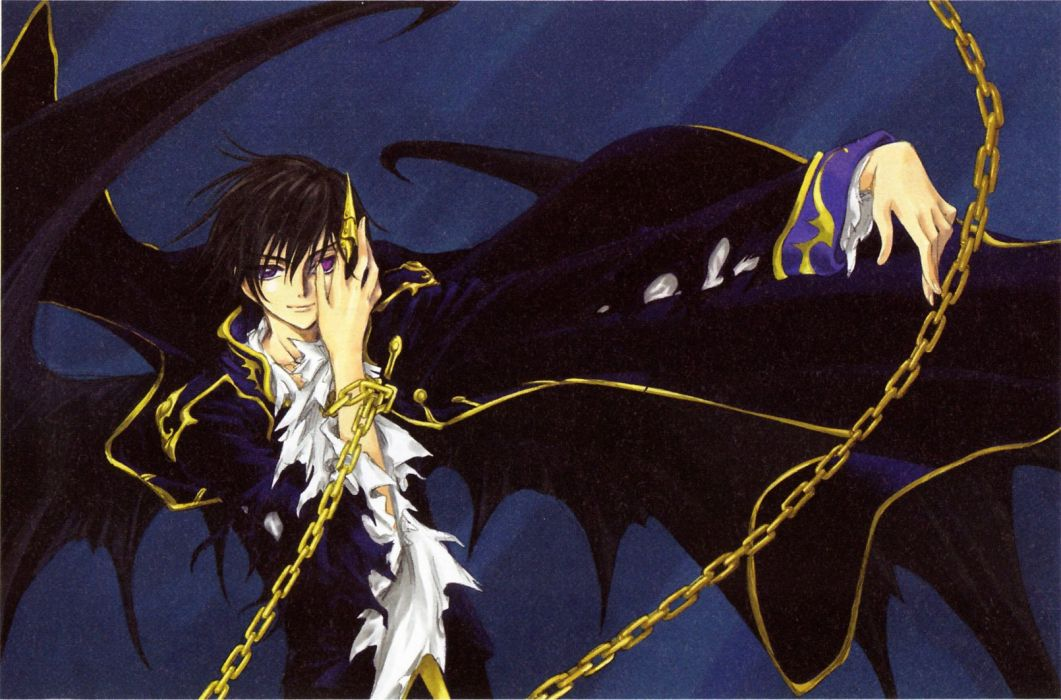 Brunettes Code Geass Lamperouge Lelouch Anime Chains Purple Eyes Wallpaper