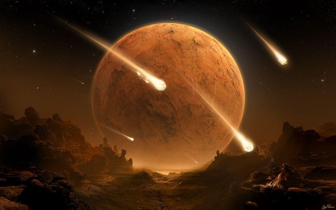 stars planets meteor shower wallpaper