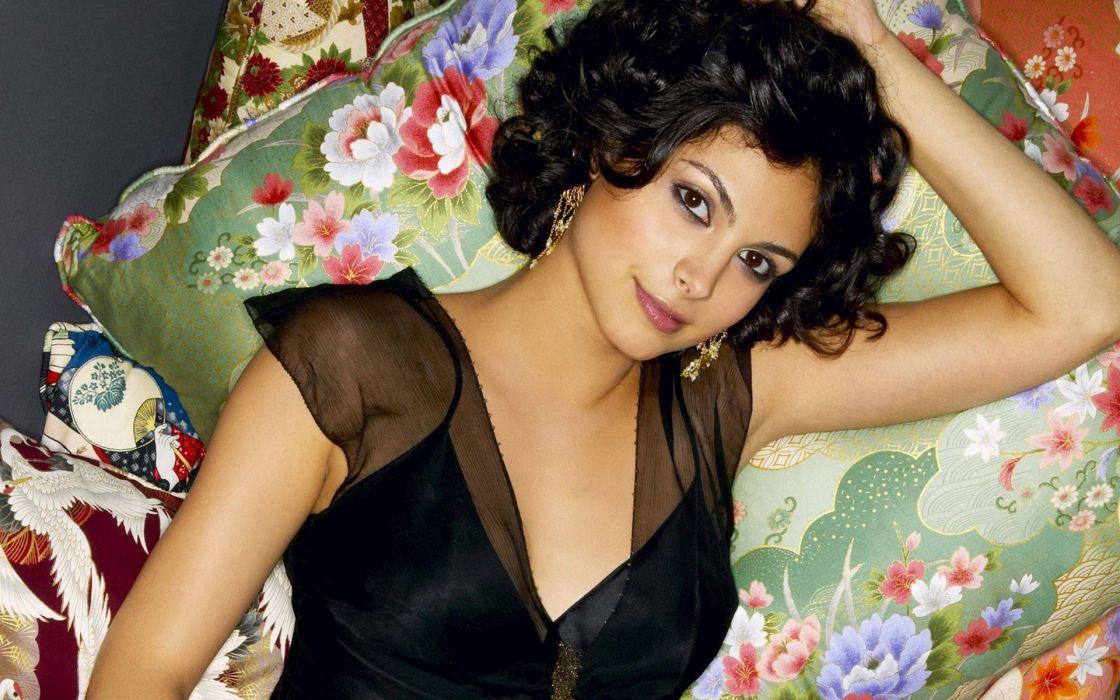 brunettes women black models Morena Baccarin wallpaper