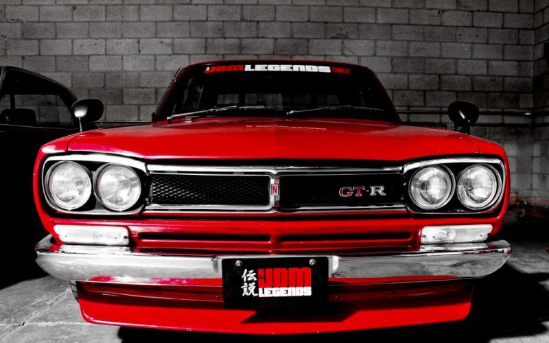 Nissan supercars red cars sports cars GTR Nissan GT-R wallpaper