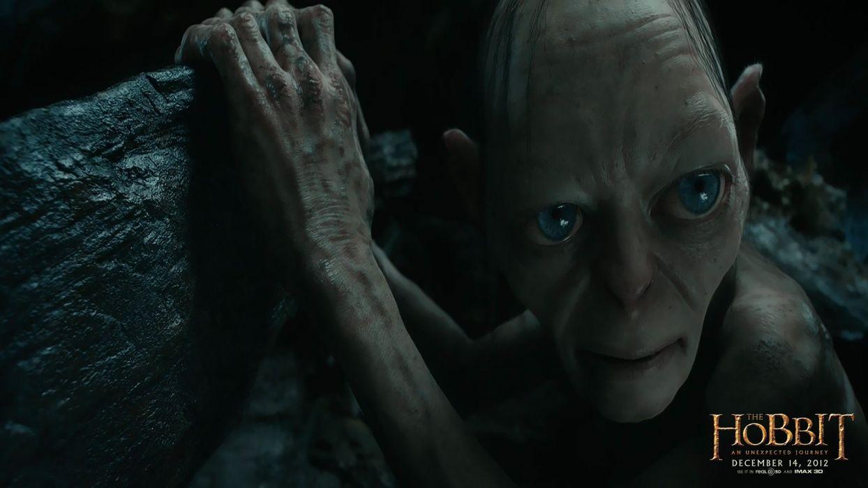 rocks Gollum The Hobbit movie posters wallpaper