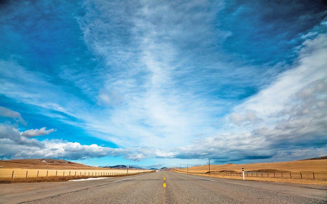 deserts roads wallpaper