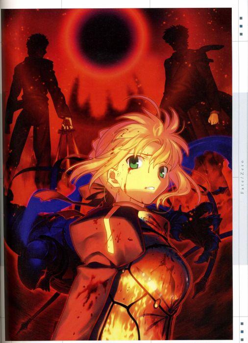 concept art artwork characters Saber  Fate/Zero Emiya Kiritsugu Fate series Kotomine Kirei wallpaper