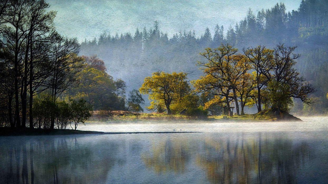 landscapes nature lakes reflections wallpaper