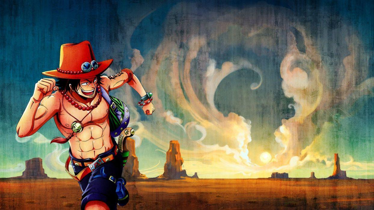 One Piece Anime Portgas D Ace Yoshairo Wallpaper