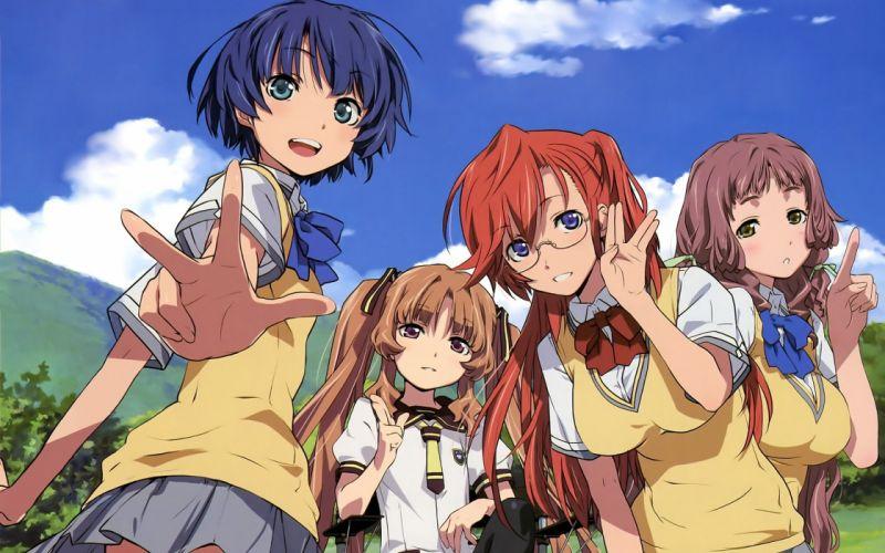 anime anime girls Takatsuki Ichika Kitahara Mio Tanigawa Kanna Yamano Remon Ano Natsu de Matteru wallpaper