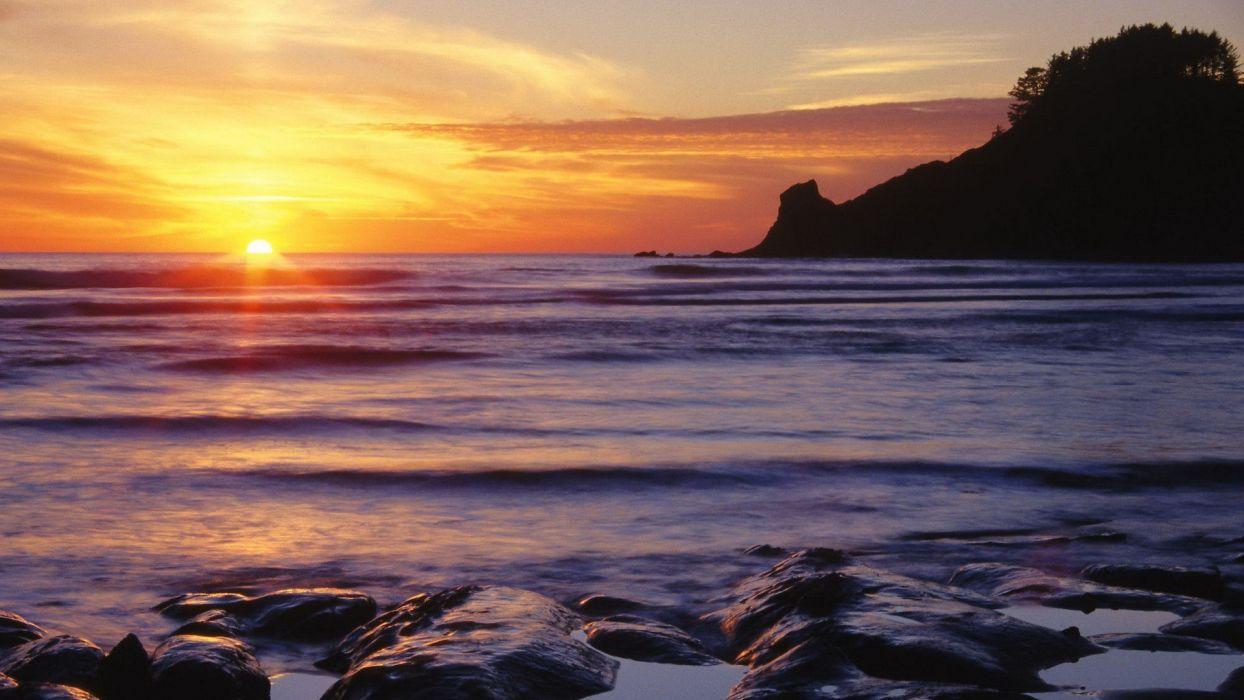 sunset west Oregon parks wallpaper